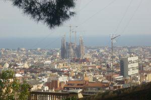 Blik op de Sagrada Familia