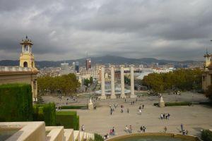 Barcelona gezien vanaf Palau Nacional