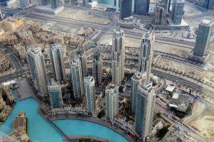 een blik vanaf de burj khalifa