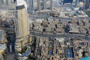 gezien vanaf de burj khalifa