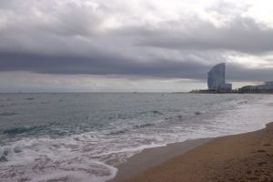 Het strand van Barceloneta