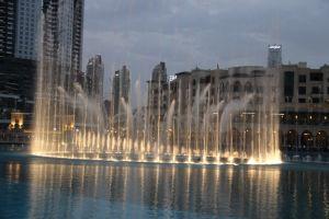 Fonteinen bij de Burj Khalifa