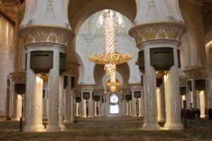 Grote moskee Abu Dhabi binnen