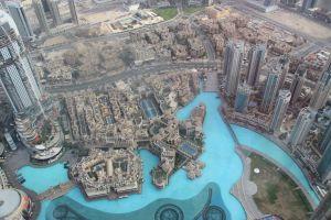 Vanaf de 125e verdieping van de Burj Khalifa