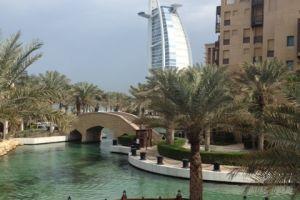 Blik op Burj Arab