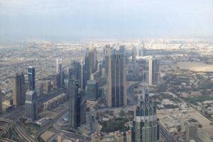 Zicht vanuit Burj Khalifa