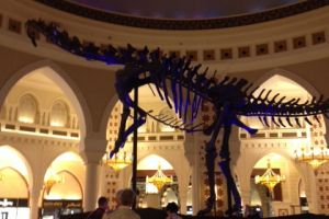 Dinosaurus in Dubai Mall