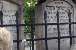 Kerkhof Joodse synagoge in de Joodse wijk van Krakau