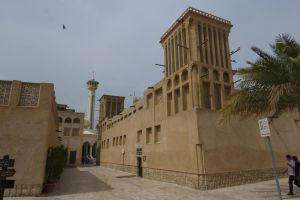 In de oude wijk van Dubai. Het Bastakya