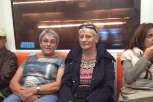 In de metro