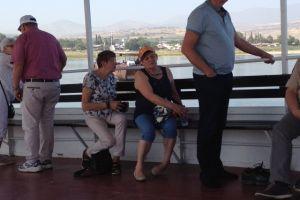 Op de boot op het meer van Galilea