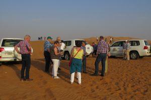 Even foto's maken voordat we aan de woestijnsafari beginnen