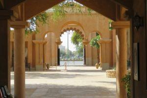 In het fort van Abu Dhabi