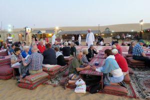 in het kamp na de woestijnsafari