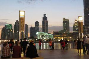midden in het nieuwe Dubai bij de Dubai mall