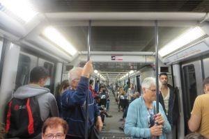 Met de metro door de stad